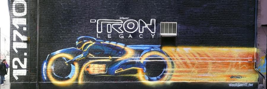 Disney's TRON mural