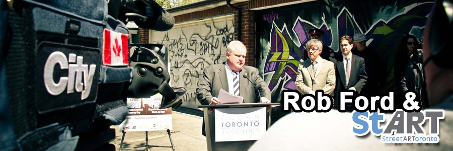 Rob Ford Launches Graffiti Street Art Initiative and mobile app