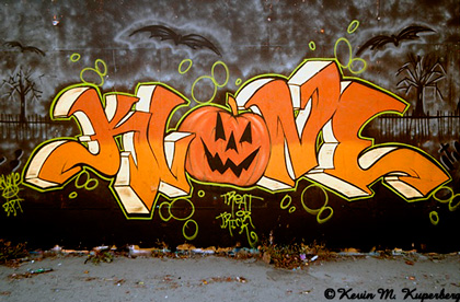 Halloween Graffiti Street Art