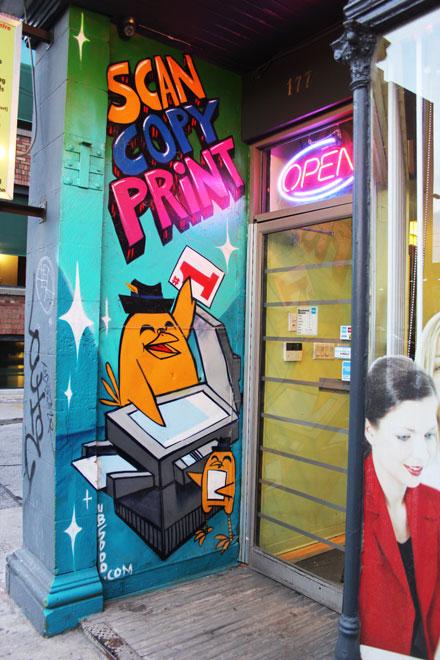 Graffiti Uber Copy Shop