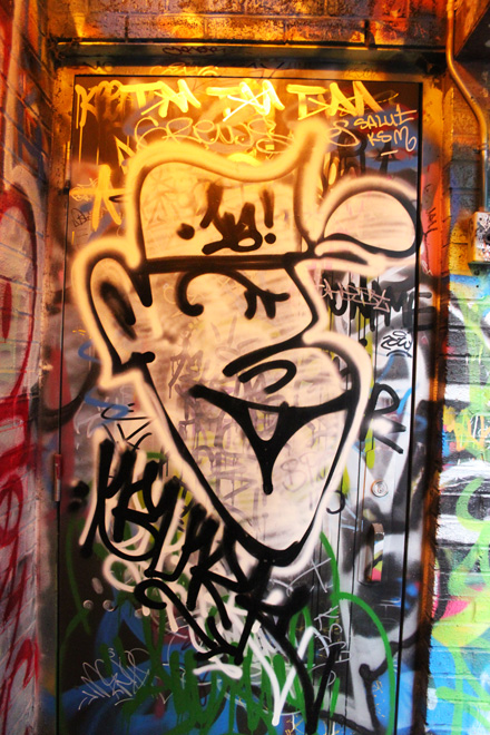 Graffiti Character on door