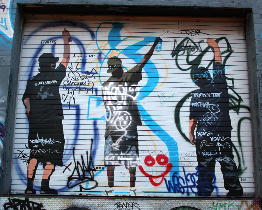 Graffiti Characters on doors