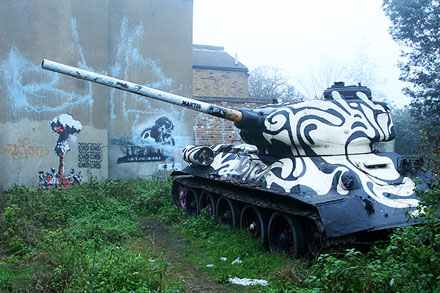 War Tank Graffiti